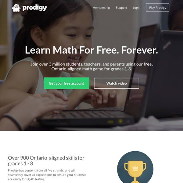 Prodigy Math Game - Learn Math for Free, Forever ...