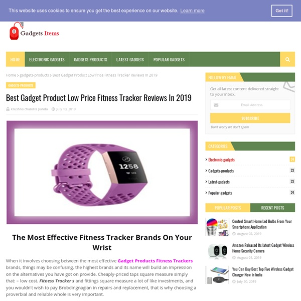 Best Gadget Product Low Price Fitness Tracker Reviews In 2019