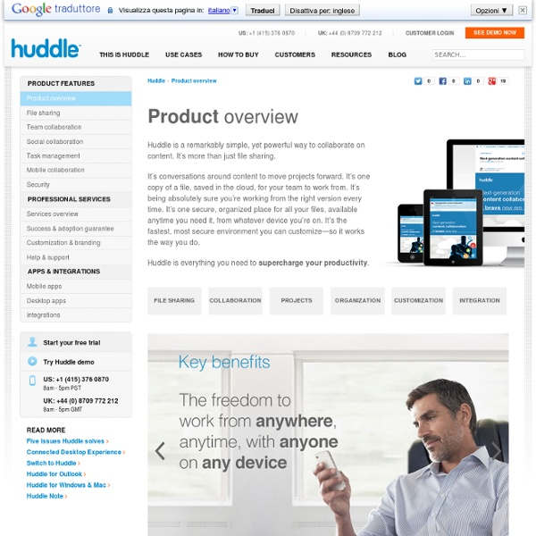Social Networking for Business ~ Huddle