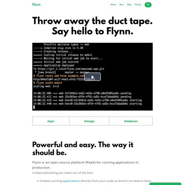 Flynn - The product that ops provides to developers