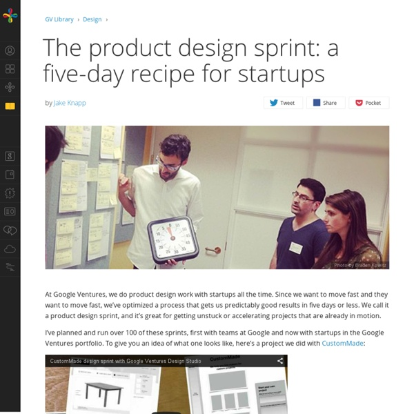 The product design sprint: a five-day recipe for startups