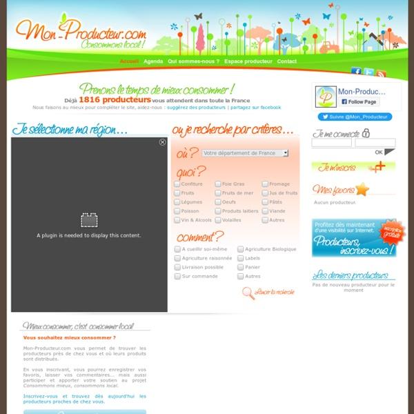 Mon-Producteur.com - Trouver les producteurs locaux en vente directe, fruits, légumes, viande, poisson...