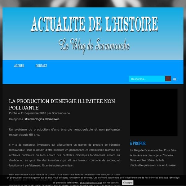 LA PRODUCTION D'ENERGIE ILLIMITEE NON POLLUANTE -