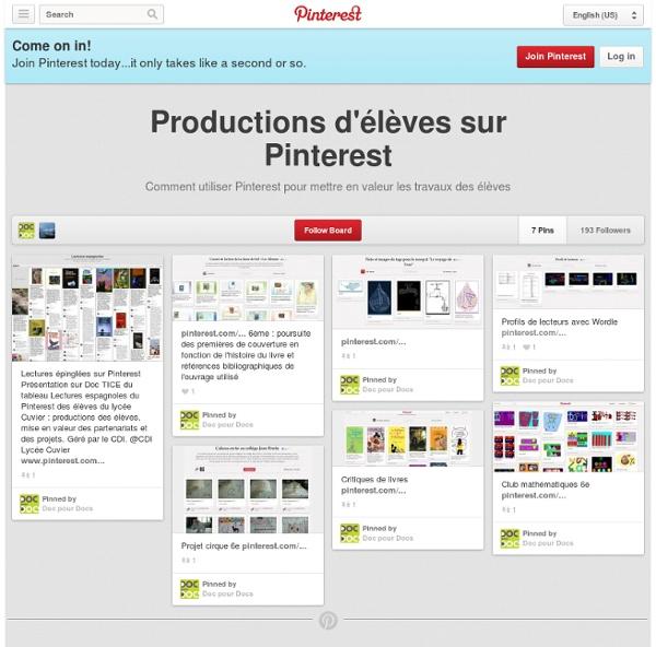 Productions d'élèves sur Pinterest