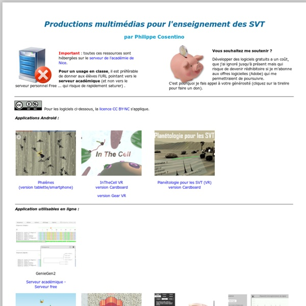 Productions multimédias pour les SVT par Philippe Cosentino