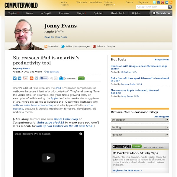 Six reasons iPad is an artist's productivity tool