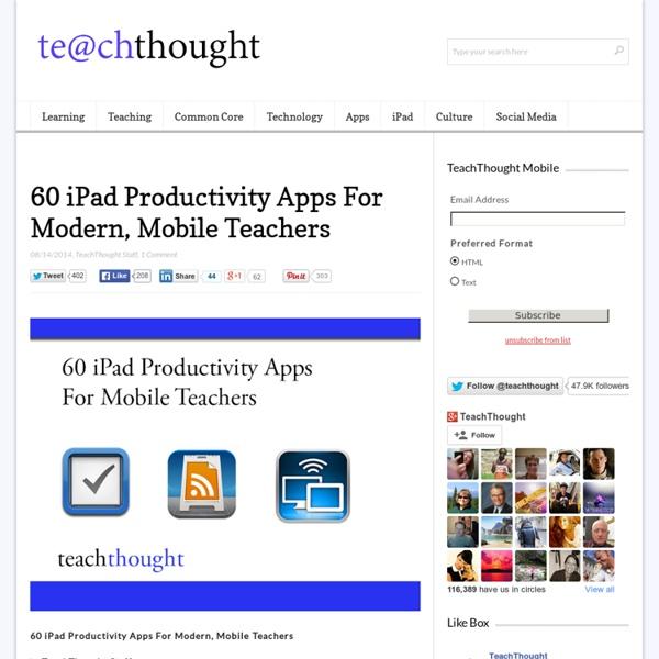 60 iPad Productivity Apps For Modern Teachers