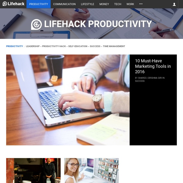 Productivity - lifehack.org
