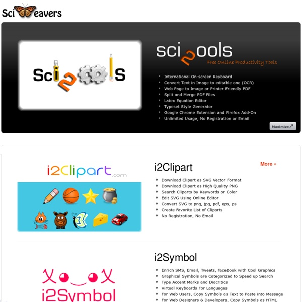Sci2ools - Free Online Productivity Tools