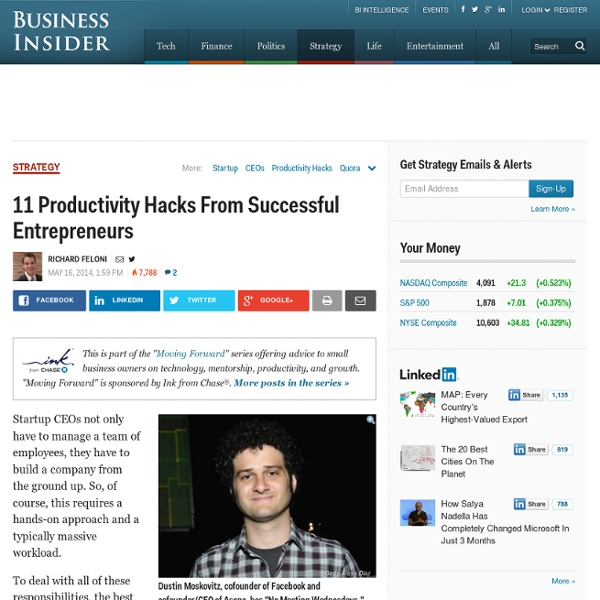 Productivity Hacks From Startup Execs