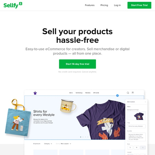 Discover and sell digital products - Sellfy.com