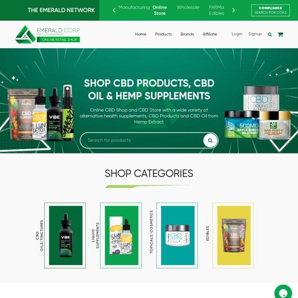 Shop CBD Products, CBD Oil & Hemp Supplements - Emerald Corp Shop
