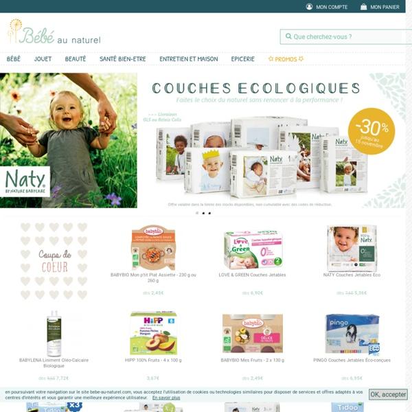 Produits bio pour Bébé, Couches bio, Portage, Grossesse: Bébé au Naturel