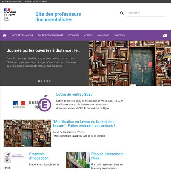 Site des professeurs documentalistes de l'académie de Dijon