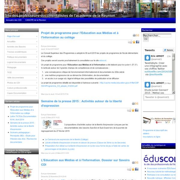 Site des professeurs-documentalistes de l'académie de la Réunion