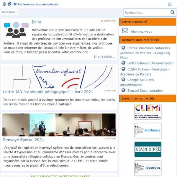 Les Enseignants Documentalistes de l'Académie de Poitiers
