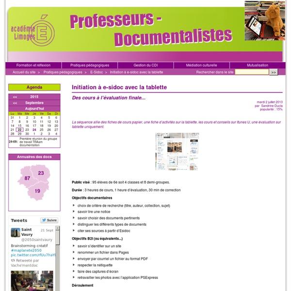 Professeurs documentalistes de l'académie de Limoges