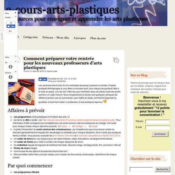 Comment préparer votre rentrée pour les nouveaux professeurs d'arts plastiques