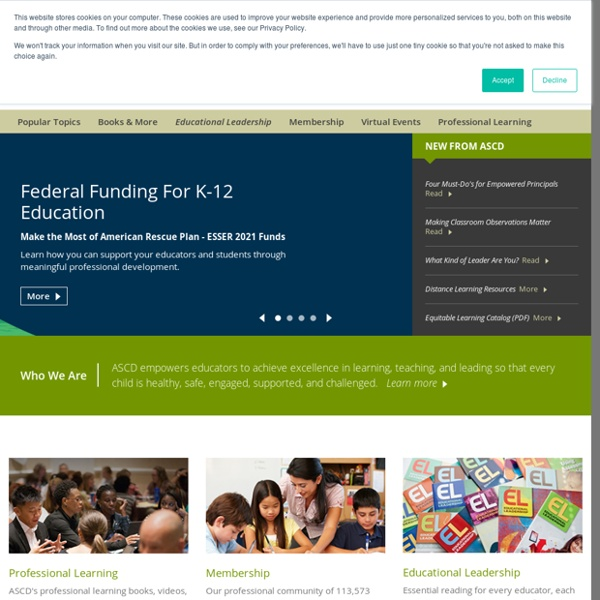 Membership, policy, and professional development for educators – ASCD