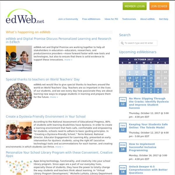EdWeb: A professional online community for educators