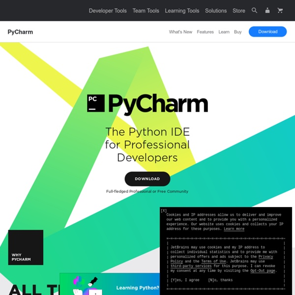 Python IDE & Django IDE for Web developers : JetBrains PyCharm