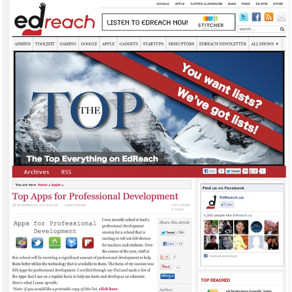Apps for Professional Development