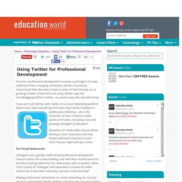 Using Twitter for Professional Development