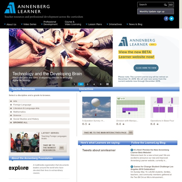 annenberg learner teacher professional developmenthtml