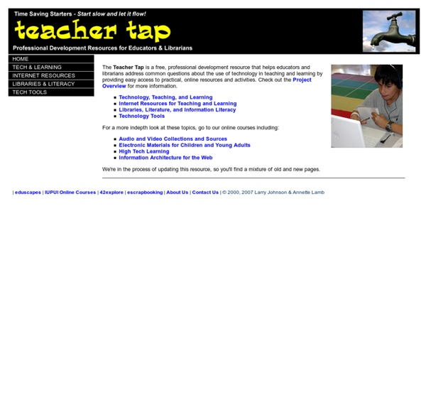 The Teacher Tap: Professional Development Resources for Educator