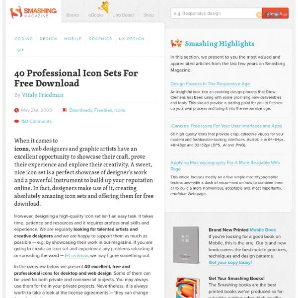 40 Professional Icon Sets For Free Download - Smashing Magazine