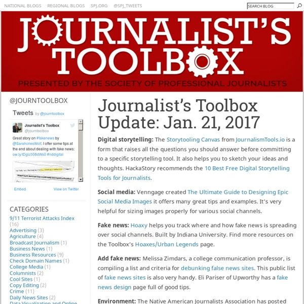 Journalist's Toolbox Update: March 25, 2011 - The Journalist's Toolbox