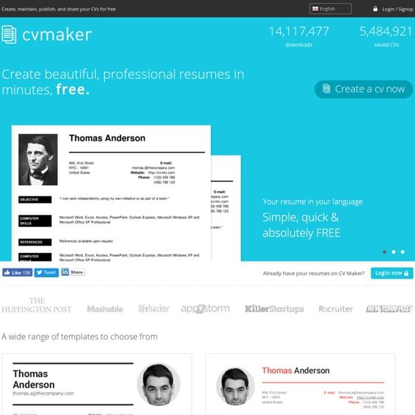 Create professional resumes online for free - CV creator - CV Maker