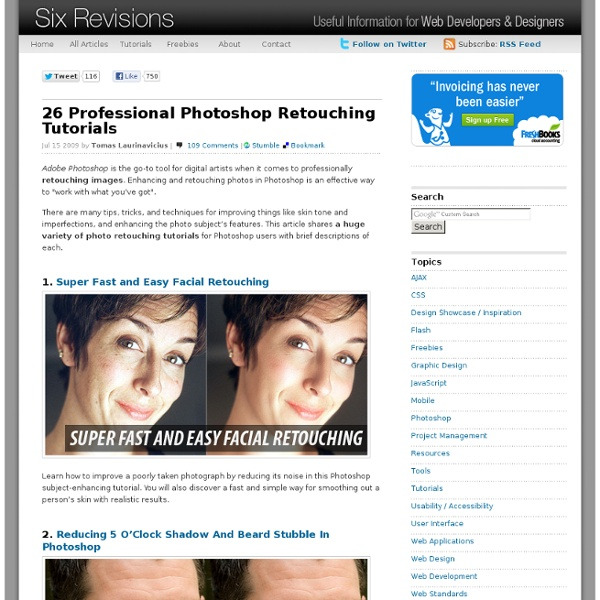 26 Professional Photoshop Retouching Tutorials