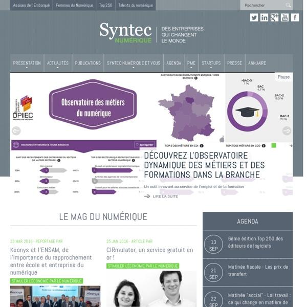 Syndicat professionnel numérique avec le Syntec Numerique.fr