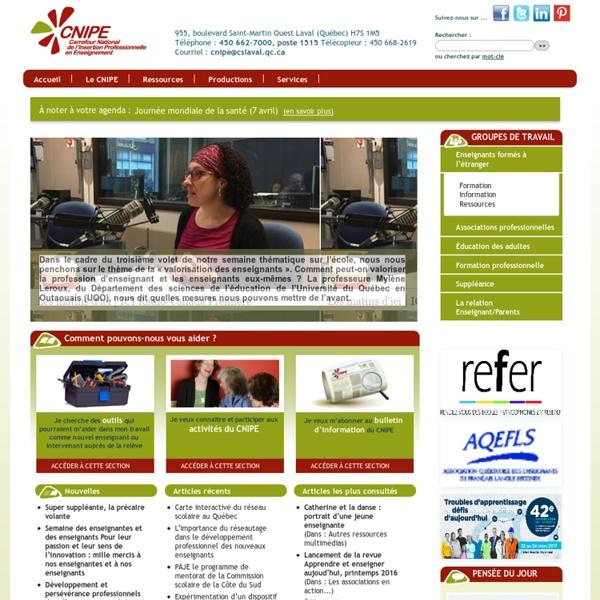 Carrefour national de l'insertion professionnelle en enseignement