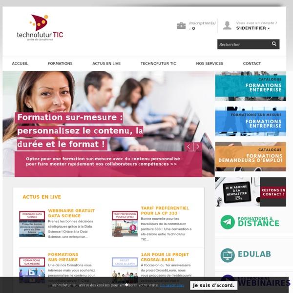 Formation professionnelle en informatique et internet - Technofutur TIC