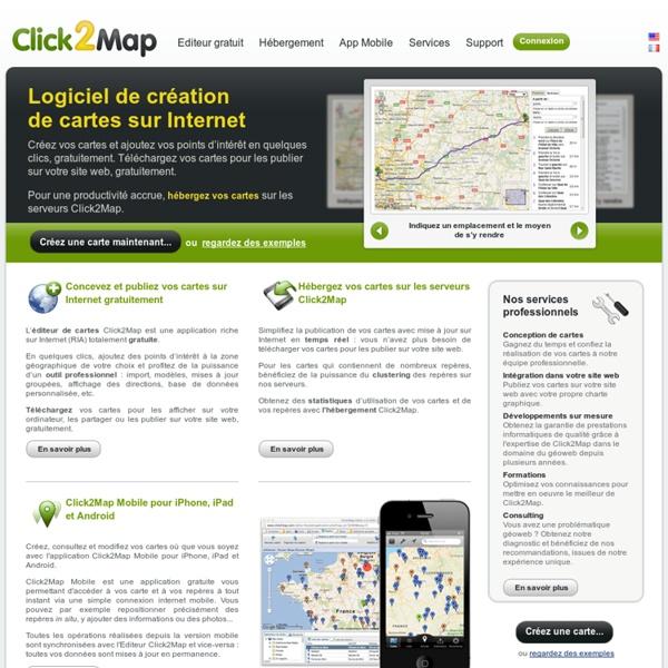 La solution géoweb professionnelle, création de cartes interactives Google Maps