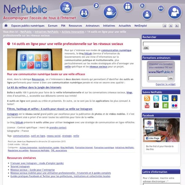 14 outils en ligne pour une veille professionnelle sur les réseaux sociaux