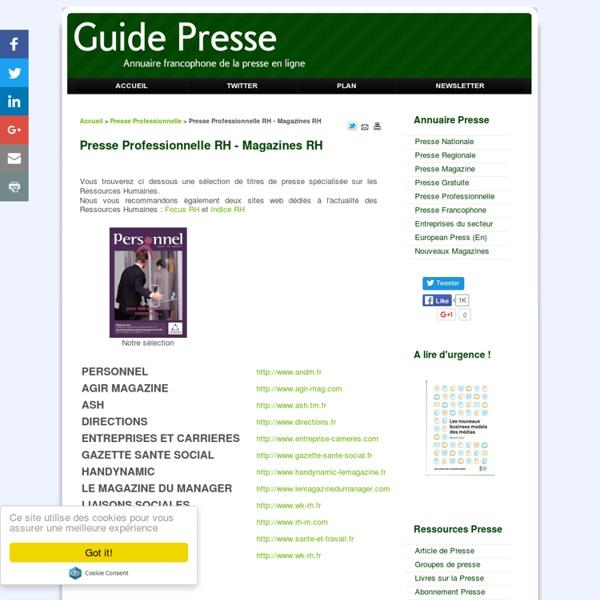 Presse Professionnelle RH - Magazine Ressources Humaines