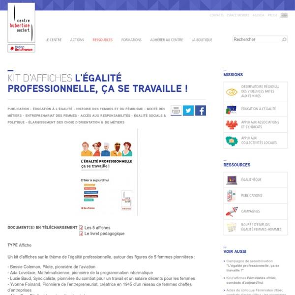 """Nouveau kit d'affiches """"L'égalité professionnelle, ça se travaille !"""""""