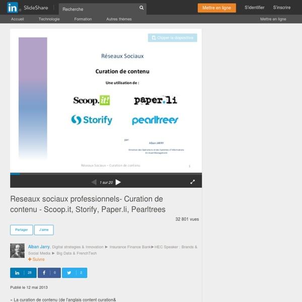 Reseaux sociaux professionnels- Curation de contenu - Scoop.it, Stori…