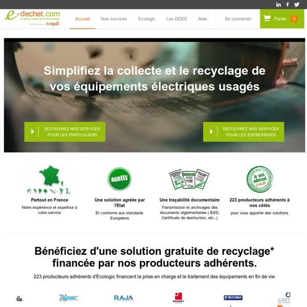 E-dechet.com le web au service de l'environnement