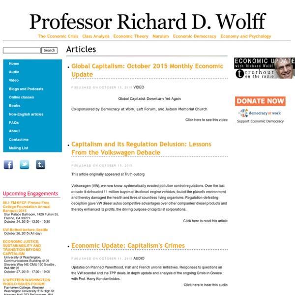 Professor Richard D. Wolff