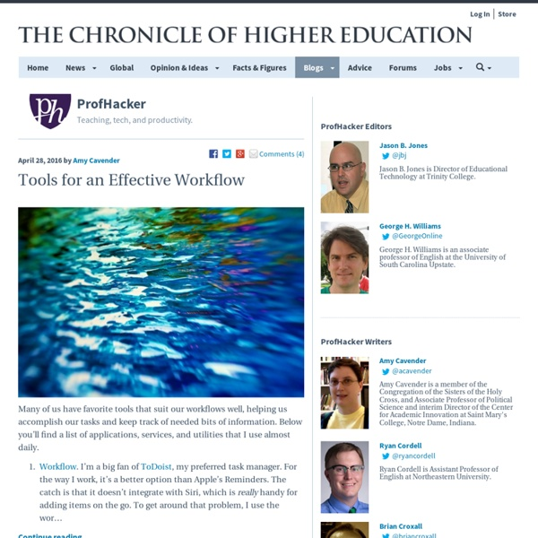 Tips & Tutorials for higher ed: productivity