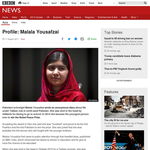 Profile: Malala Yousafzai