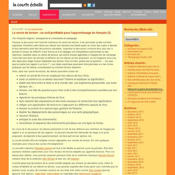 Le cercle de lecture : un outil profitable pour l'apprentissage du français (2)