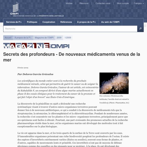 Secrets des profondeurs - De nouveaux médicaments venus de la mer