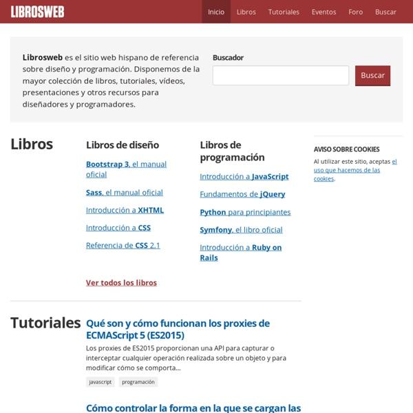 Diseño y programación web (libros, tutoriales y vídeos sobre HTML, CSS, JavaScript, PHP)