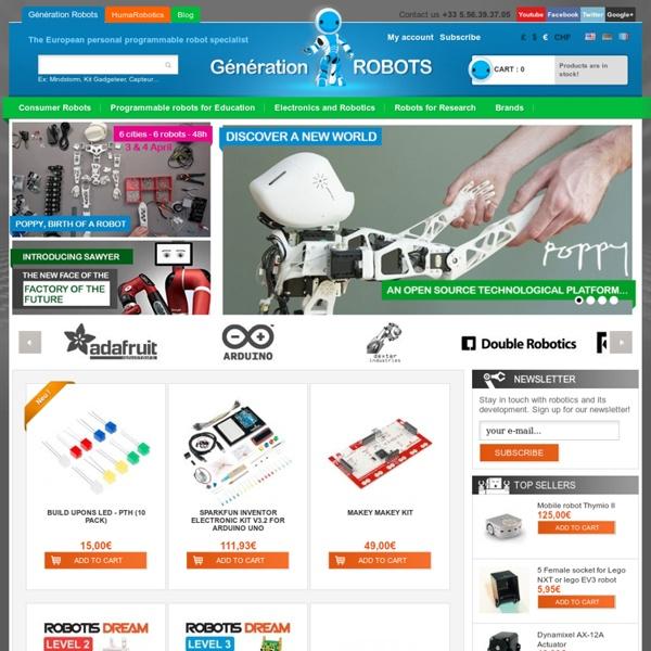 Robot domestique et robot programmable: acheter robot en quelques clics