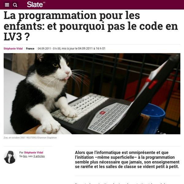 La programmation pour les enfants: et pourquoi pas le code en LV3 ?